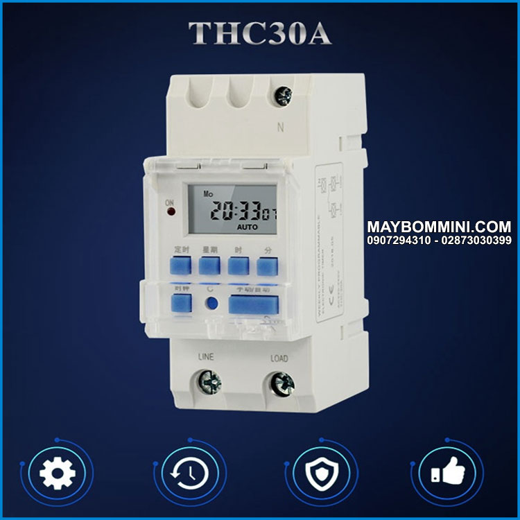Programmable Digital Time Switch Relay Timer Control AC 220V
