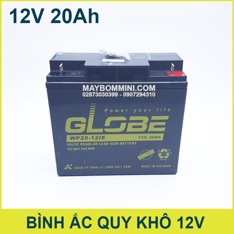 Binh Ac Quy Kho 12V 20Ah Globe