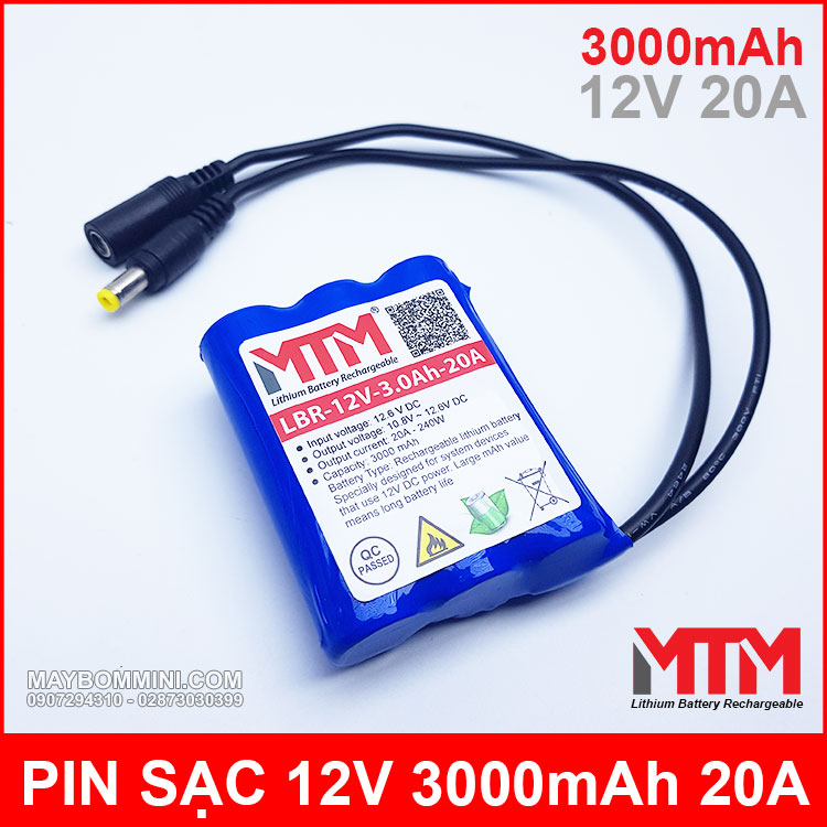 Lithium Battery Rechargeable 12v 3000mah MTM