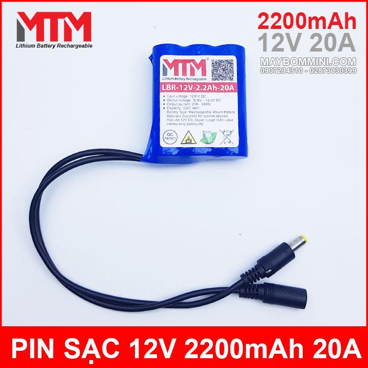 Pin Sac 12V 2200mah 20A Chinh Hang