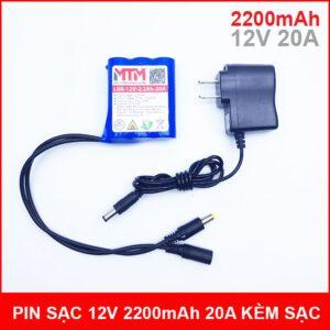 Pin Sac 12V 2200mah 20A Kem Sac Chinh Hang