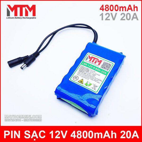 Pin Sac 12V 4800mah 20A Chinh Hang
