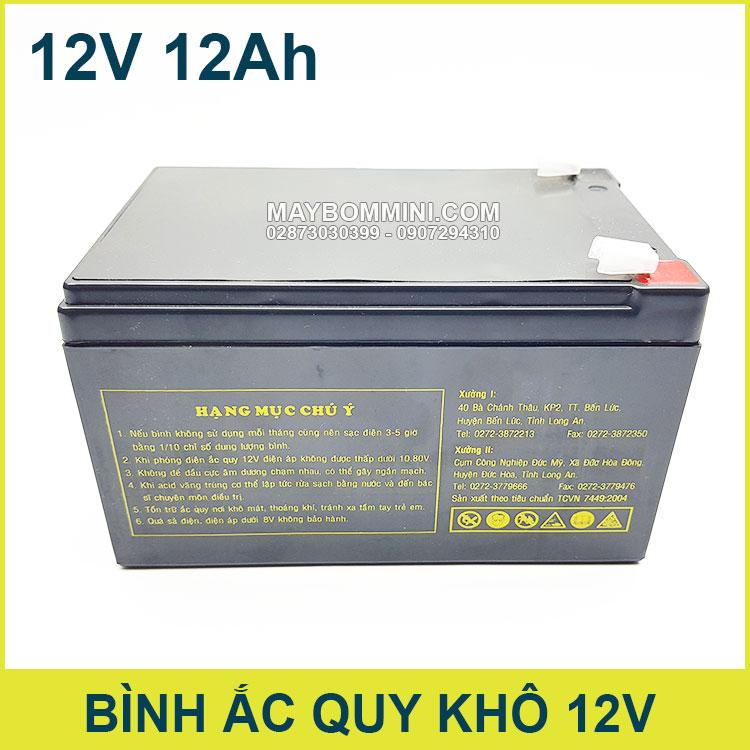 Ac Kho 12v 12ah Gia Re Chinh Hang