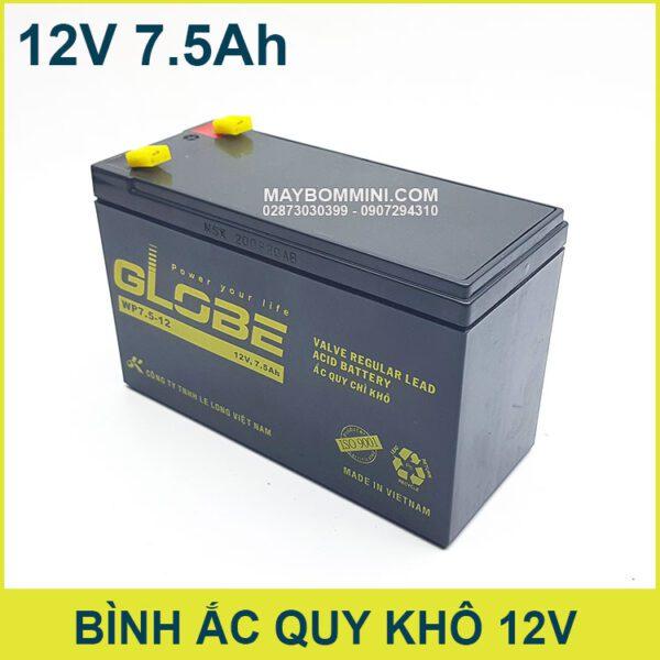 Ac Quy Mini 12v 7500mAh Chinh Hang