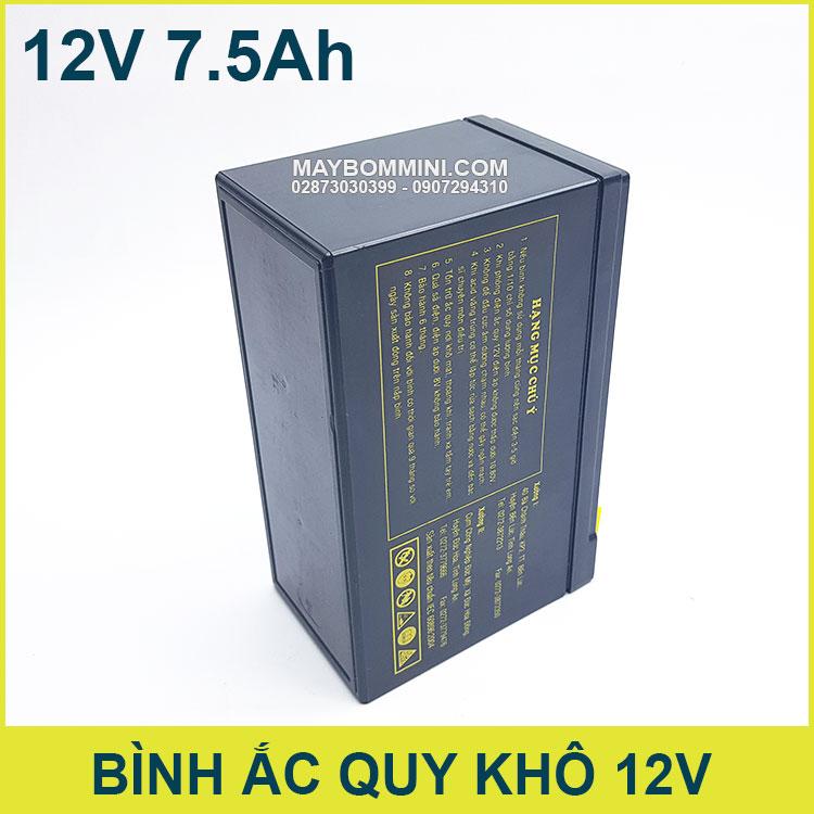 Ban Binh Ac Quy 12v Gia Re 7500mah Globe