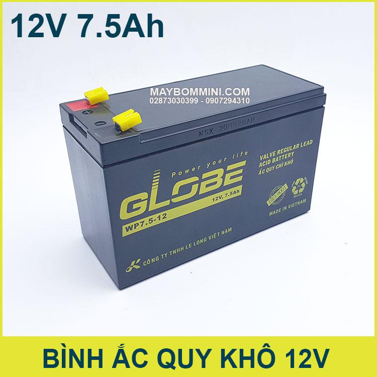 Ban Binh Ac Quy Globe Chinh Hang 12V