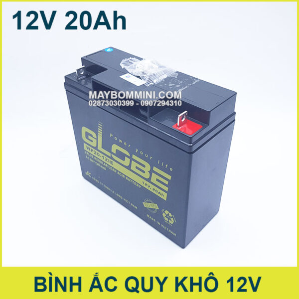 Binh Ac Quy 12v 20a Globe Chinh Hang