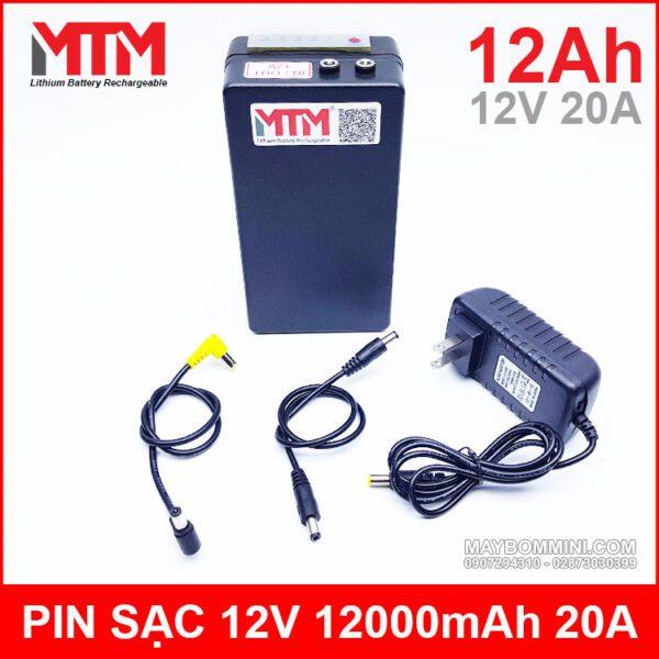 Box Pin Sac 12V 12ah 20A Chinh Hang