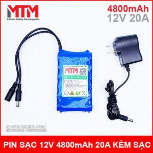 Pin 12v 4800mah 20a Kem Sac Chinh Hang Gia Re