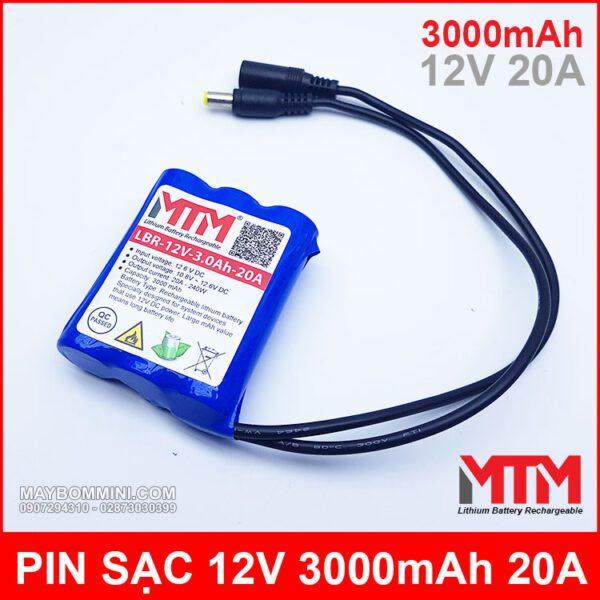 Pin Ion Lithium 12v 3000mah