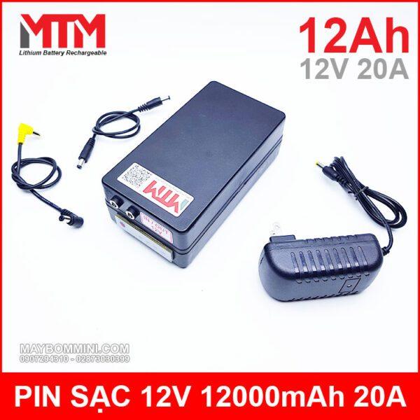 Pin Sac Lithium 12v 12ah Dung Luong Cao