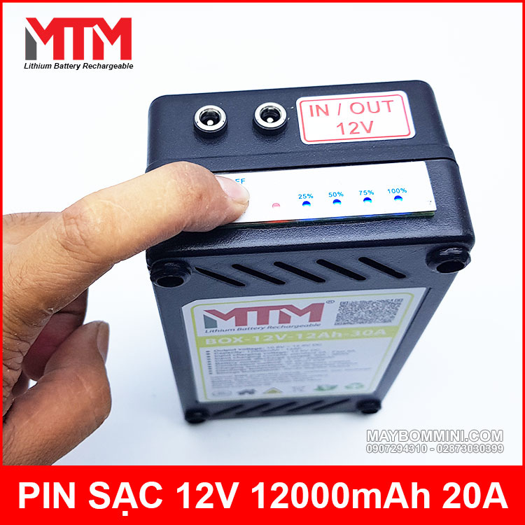 Test Dung Luong Pin 12V