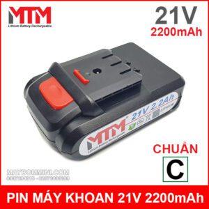 Pin May Khoan Ban Vit Cam Tay 21V 2200mah Chuan C