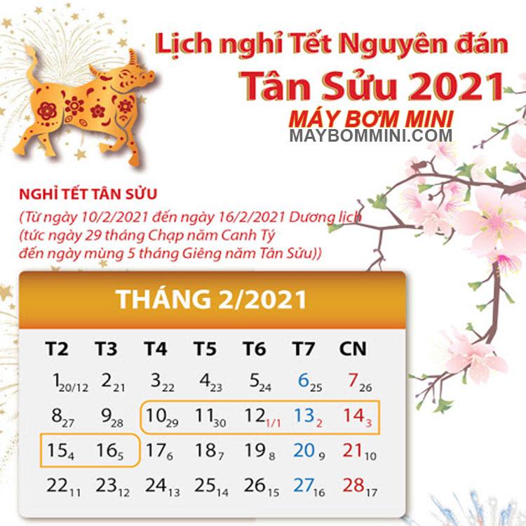Lich Nghi Tet May Bom Mini 2021
