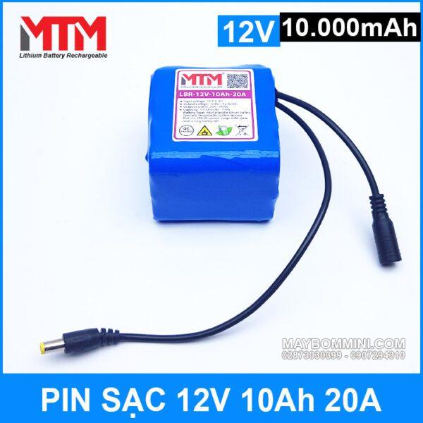 Pin Sac 12v 10000mah 20A Gia Tot Chat Luong