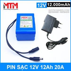 Pin Sac 12v 12000mah 20A Chinh Hang Kem Sac