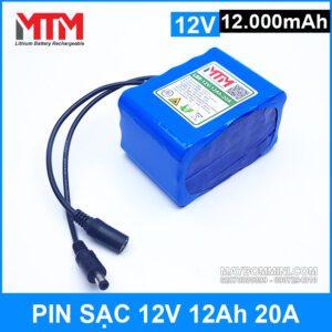 Pin Sac 12v 12000mah 20A Gia Tot