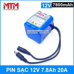 Pin Sac 12v 7800mah 20A Gia Tot Chat Luong