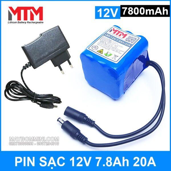 Pin Sac 12v 7800mah 20A Gia Tot Chat Luong Kem Sac