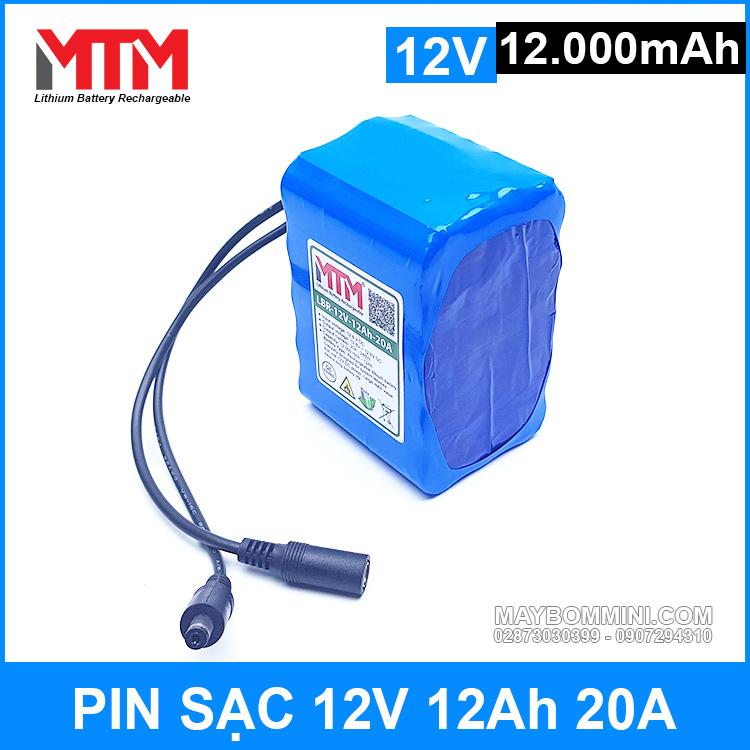 Pin 12v Cao Cap Chinh Hang 12000mah