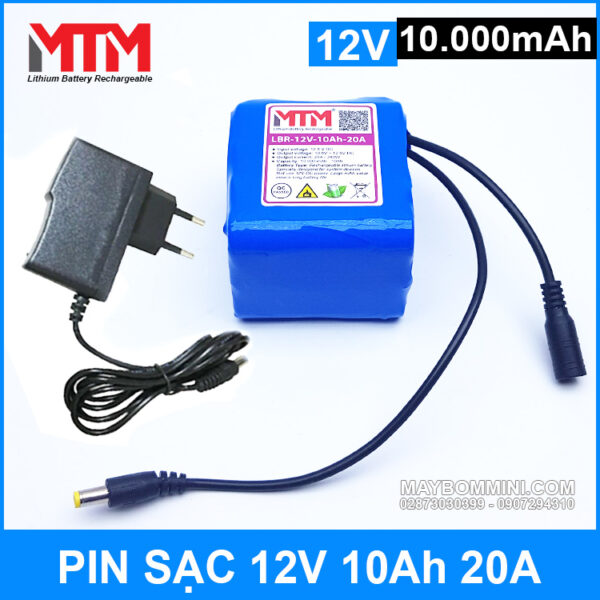 Pin Sac 12v 10000mah Kem Sac Chinh Hang