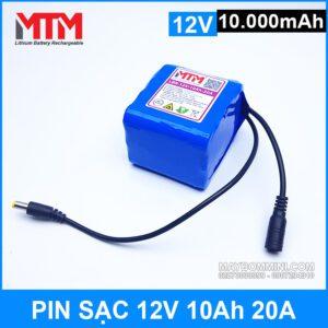 Pin Sac Lithium 12v 10ah 20A Gia Tot
