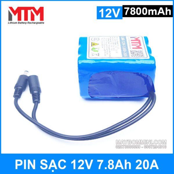 Pin Sac Lithium Ion 12v 2700mah 20A Chinh Hang